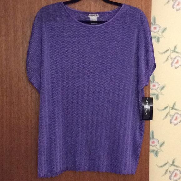 29a2867da8a94d Bonworth Purple Stretch Top NWT Size L